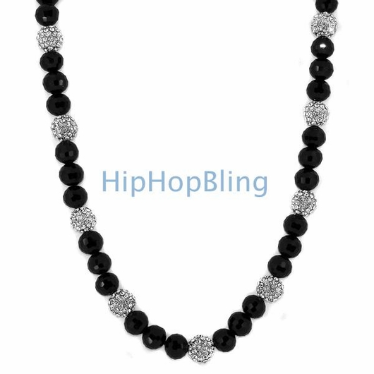 15 Iced Out Disco Balls Bling Bling Necklace