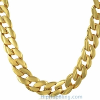 15MM Jumbo Gold Plated Cuban Chain Necklace