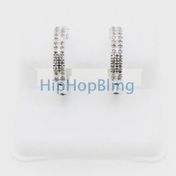 2 Row Diamond Hoop Earrings 316L .64ct