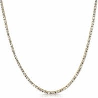 2MM CZ Micro Tennis Chain Bling Bling Gold