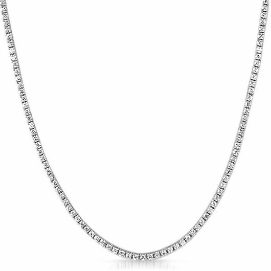 2MM CZ Micro Tennis Chain Bling Bling Rhodium