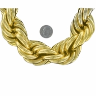 30mm Gold Dookie Rope Chain