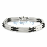 316L Steel & Rubber JoJino Fashion Bracelet