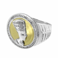 .37cttw Diamond African Queen Ring .925 Silver