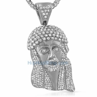 3D Big Iced Out Crown Jesus Piece