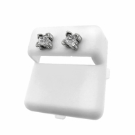 3D Box Real Diamond Hip Hop Earrings