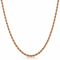 3MM Rope Chain Rose Gold Stainless Steel