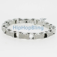 4.00cttw Real Diamond Joe Rodeo Bike Link Bracelet 316L