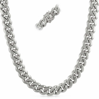 4MM Miami Cuban Chain Stainless Steel Triple Lock