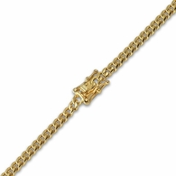 4MM Miami Cuban IP Gold Steel Bracelet Triple Lock