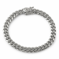 4MM Miami Cuban Steel Bracelet Triple Lock