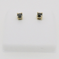 10K Gold .50cttw Real Black Diamond Earrings Stud