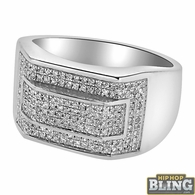 .55 Carat Diamond Hip Hop Mens Ring .925