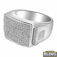 .66 Carat Diamond Bling Bling Mens Ring .925