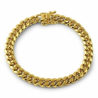 6MM Miami Cuban IP Gold Steel Bracelet Triple Lock