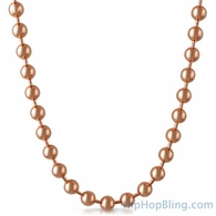 8MM Rose Gold Bead Chain Necklace