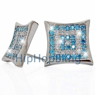 .925 Silver Micro Pave CZ Iced Out Earrings