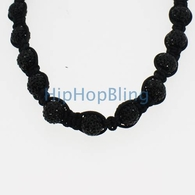 All Black Disco Ball Necklace Premium