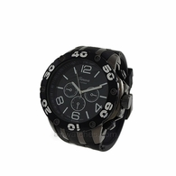 All Black Rubber Sports Fashion Watch