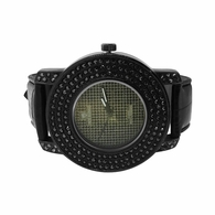 All Black Triple Bling Bezel Hip Hop Watch