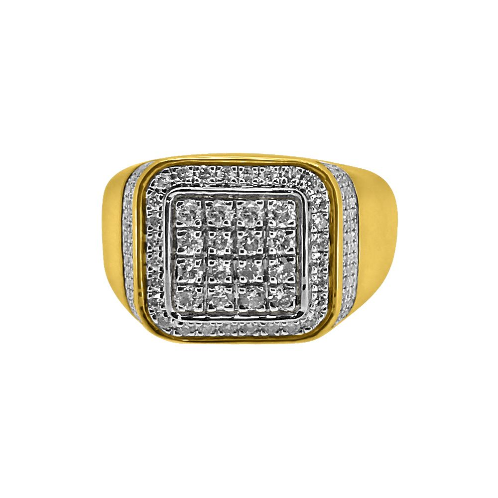 baller 1 00cttw mens bling ring 10k gold 10k