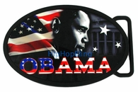 Barack Obama USA American Flag Belt Buckle