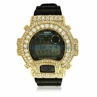 Big Boy Gold CZ Custom G Shock Watch DW6900