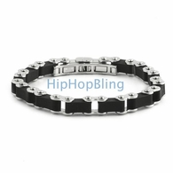 Bike Link JoJino 316L Rubber Fashion Bracelet