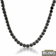 Black 6MM CZ Stainless Steel Bling Tennis Chain