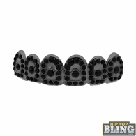 Black Bling Bling Grillz Top Teeth