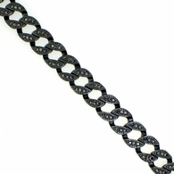 Black Bling Bling Miami Cuban Bracelet