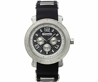 Black Dial & Band Sporty JoJino Diamond Watch .25cttw