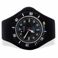 Black Jelly Watch with Rotating Bezel