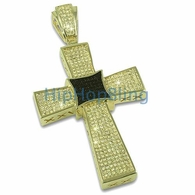 Black Kite Lemonade CZ Micro Pave Bling Bling Cross