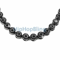Black on Black Ice Cluster 1200 Stone Bling Bling Chain