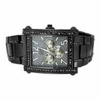 Black Rectangle Bling Bling Watch