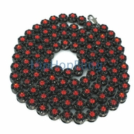Black & Red Cluster Bling Bling Chain 750+ Stones
