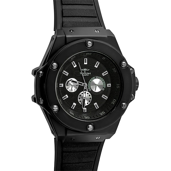 Black solid fashion hip hop watch black iced out watches for Rapper watches
