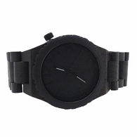 Black Wooden Dress Watch