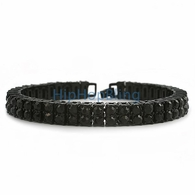 Bling Bling 2 Row Black Bracelet