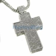 Bling Bling 3D Mega Cross & 1 Row Chain Set