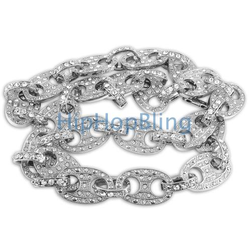 Bling Bling Chain Rhodium Fat Marine Link 15mm Wide * SALE *