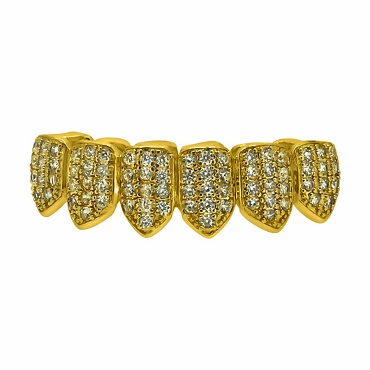 Bling Bling CZ Gold Hip Hop Grillz Bottom Teeth