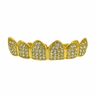 Bling Bling CZ Gold Hip Hop Grillz Top Teeth