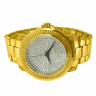 Bling Bling Dial Heavy Gold Hip Hop Watch
