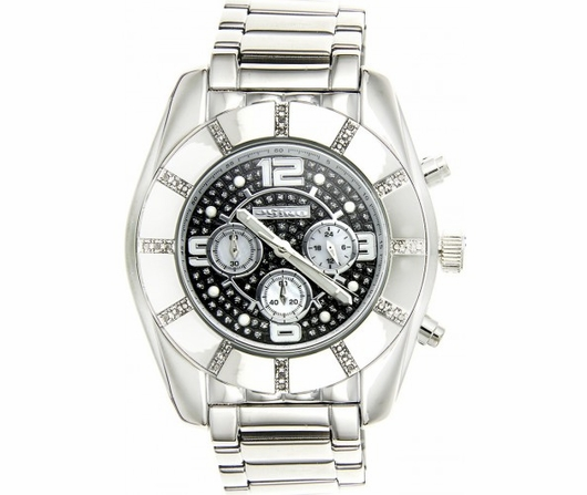 Bling Bling Diamond Watch Smooth Black Dial JoJino