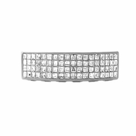 Bling Bling Grillz 4 Row Princess Cut Bottom