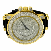 Bling Bling Ice Steps Gold Hip Hop Rubber Watch