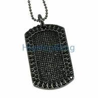 Blizzard Bling Bling Black Dog Tag & Chain
