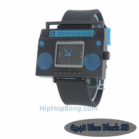 Blue Boombox Urban Hip Hop Watch